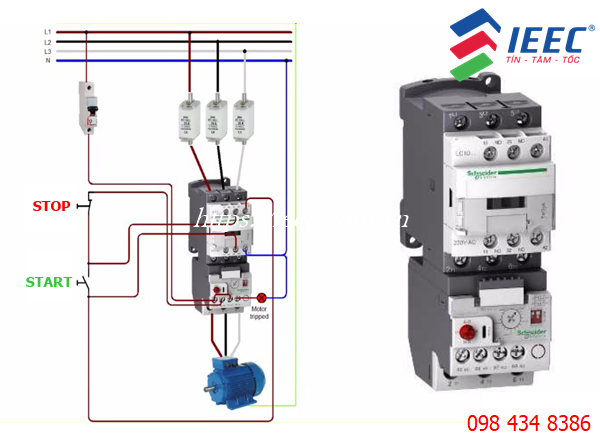 Contactor kết hợp role nhiệt