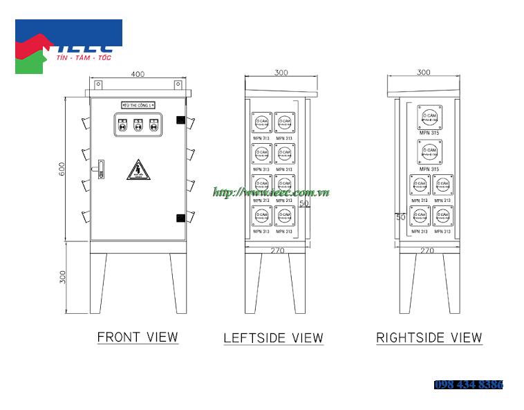 Cấu tạo của tủ điện thi công